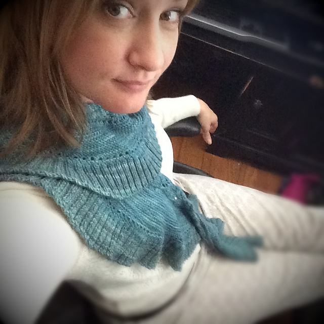 hand knit pattern pleiades with miss babbs yarn
