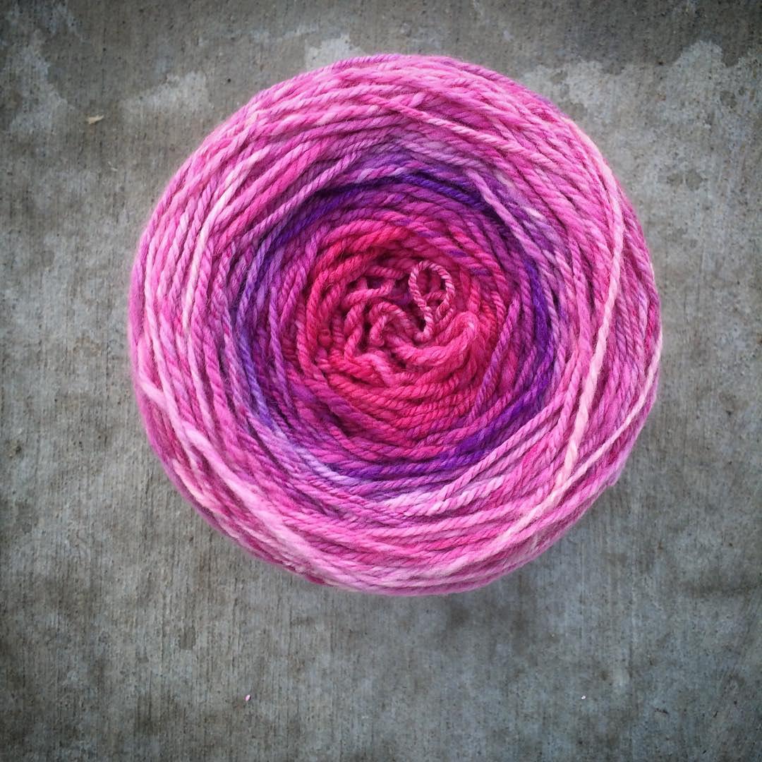 hand spun yarn cake